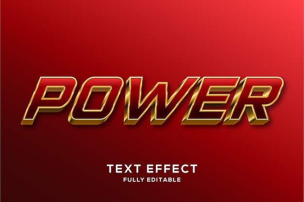 Modern rood en goud 3d tekststijleffect
