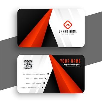 Modern rood visitekaartje voor uw merk