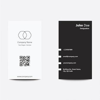 Modern schoon plat ontwerp zilver zwart visitekaartje