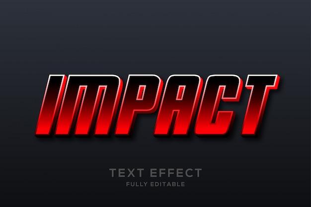 Modern schoon rood teksteffect