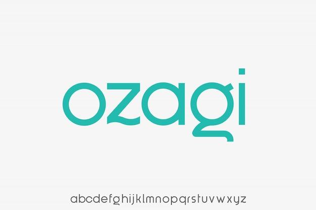 Modern schreefloos lettertype creatief alfabet