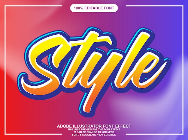 Modern scriptstijl lettertype effect