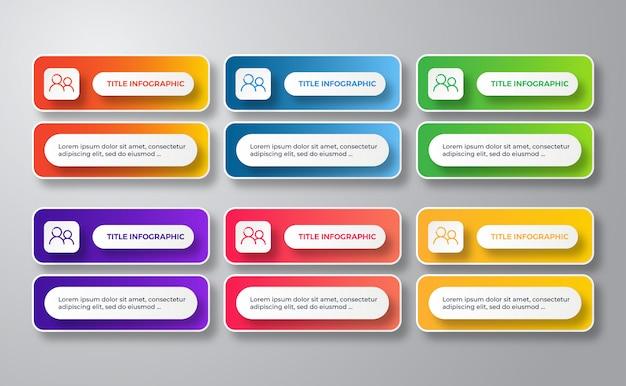 Modern sjabloon infographic ontwerp