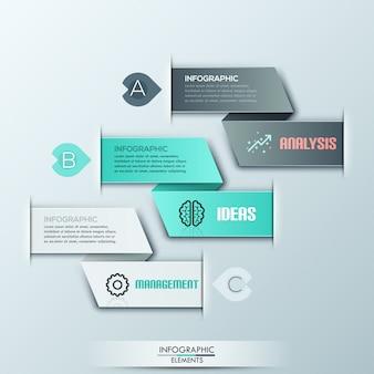 Modern spiraalvormig infographicsmalplaatje met opties
