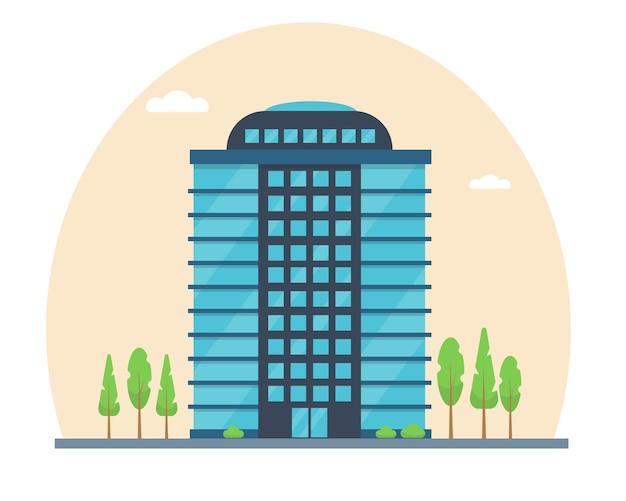 Modern stadsgebouw buitengevel van kantoorhuis of zakencentrum