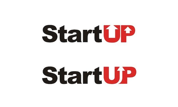 Modern start-up typografie logo-ontwerp