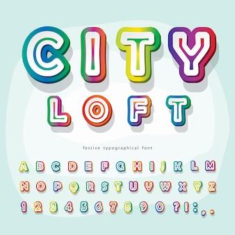 Modern stedelijk lettertype