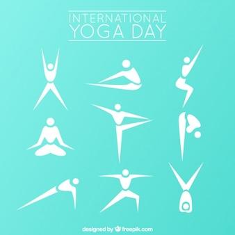 Modern stelt yoga silhouet collectie