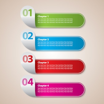 Modern stripes business met kleurrijke trap diagram en cijfers vector illustratie