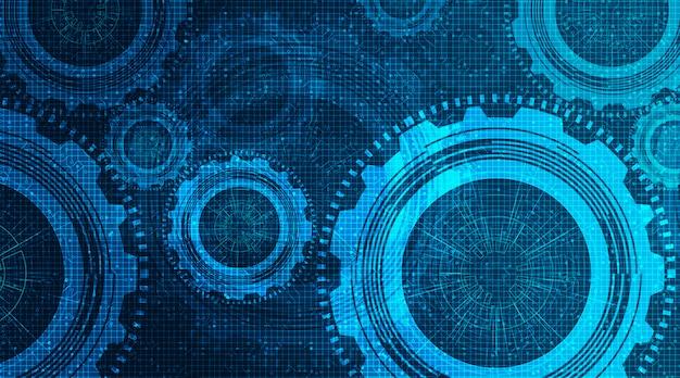Modern technisch toestellenwiel en haan op technologieachtergrond, vector