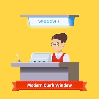 Modern technologie teller venster
