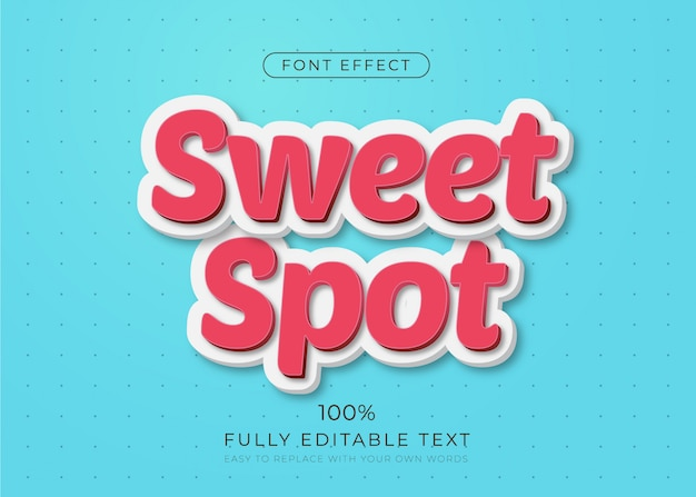 Modern teksteffect. bewerkbare lettertypestijl