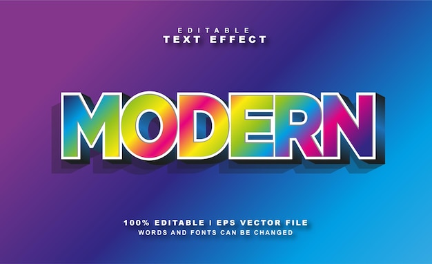 Modern teksteffect gratis eps vector