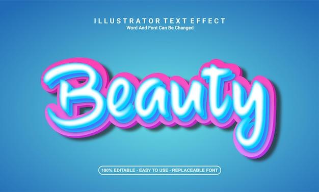 Modern teksteffectontwerp, schoonheid