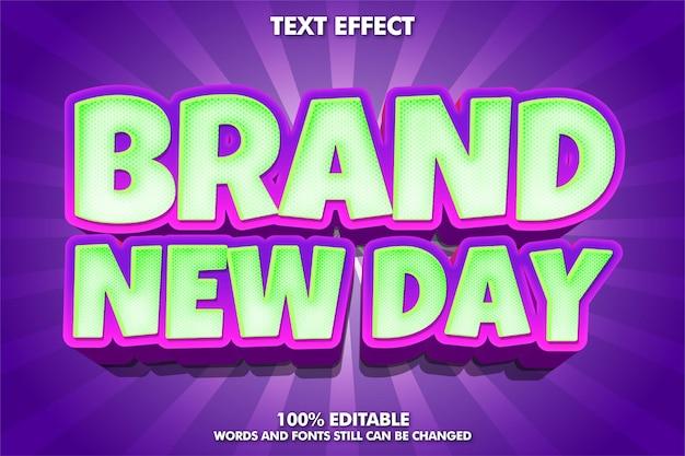 Modern tekststijl bewerkbaar cartoon teksteffect
