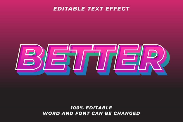 Modern tekststijleffect premium