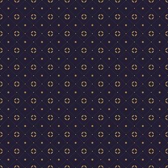 Modern traditioneel van het batik naadloos patroon van indonesië behang als achtergrond in luxe marinekleur