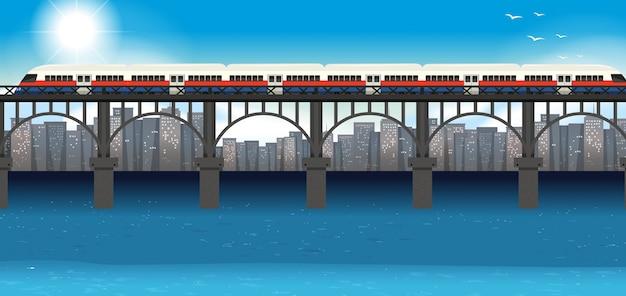 Modern trein stedelijk vervoer