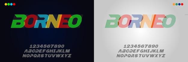 Modern trendy alfabet met stedelijke stijlsjabloon