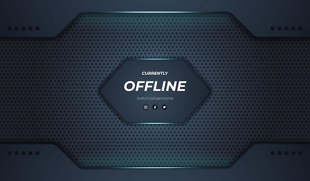 Modern twitch offline ontwerp