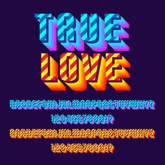 Modern typografiedoopvont met twee stijlalfabetten