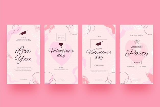 Modern valentijnsdagverhalenpakket