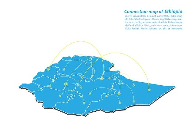 Modern van ethiopië kaartverbindingen netwerkontwerp