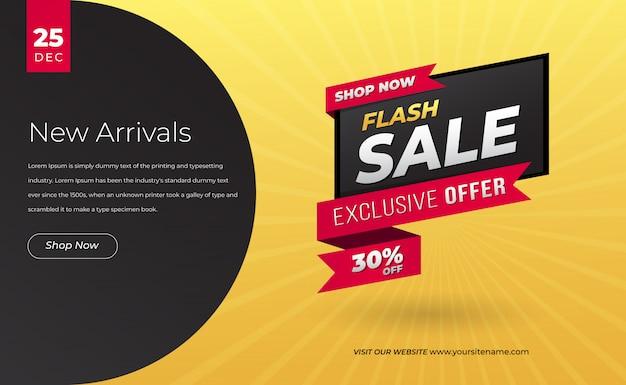 Modern verkoop banner web