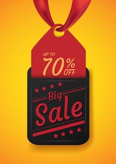 Modern verkooplabel voor grote verkoop