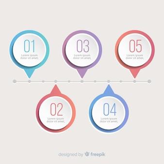 Modern verloop infographic stappen concept