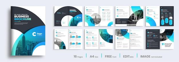 Modern verloop zakelijke brochure sjabloonontwerp