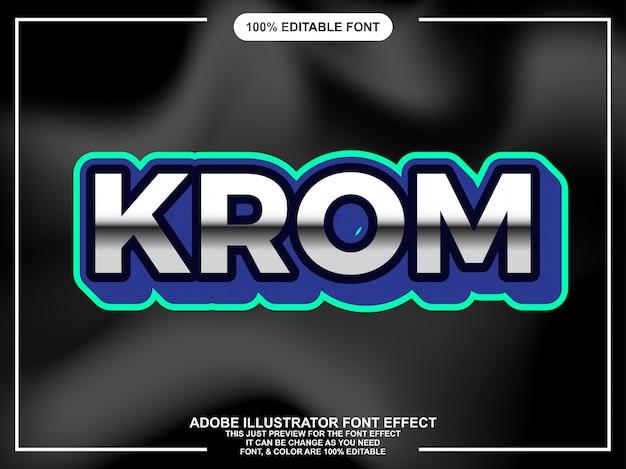 Modern vet chroom teksteffect