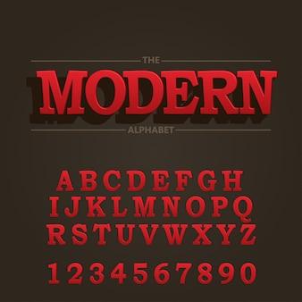 Modern vet lettertype en alfabet
