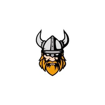 Modern viking head face voor esports logo-ontwerp