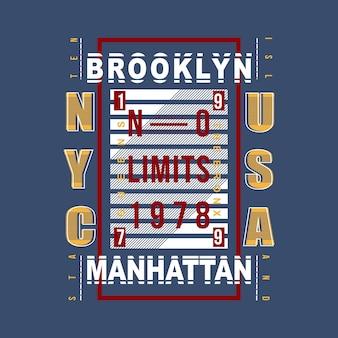 Modern vintage de t-shirtontwerp van brooklyn