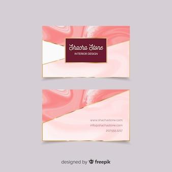 Modern visitekaartje met elegante stijl
