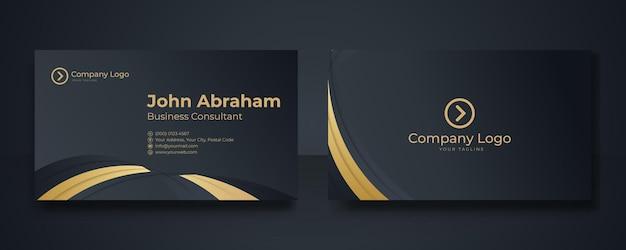 Modern visitekaartje met golfontwerp. creatief en schoon visitekaartjesjabloon. luxe visitekaartje ontwerpsjabloon.