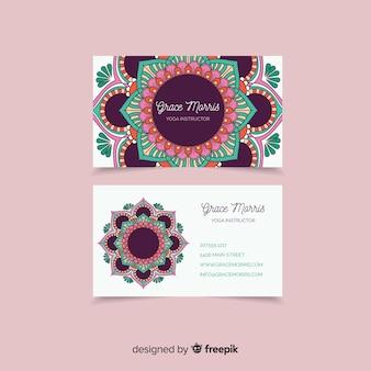 Modern visitekaartje met mandala