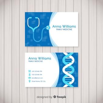 Modern visitekaartje met medisch concept