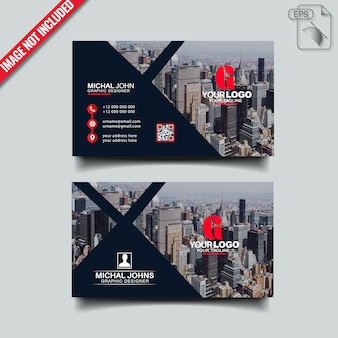 Modern visitekaartje ontwerp