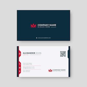 Modern visitekaartje rood en zwart elegant professioneel