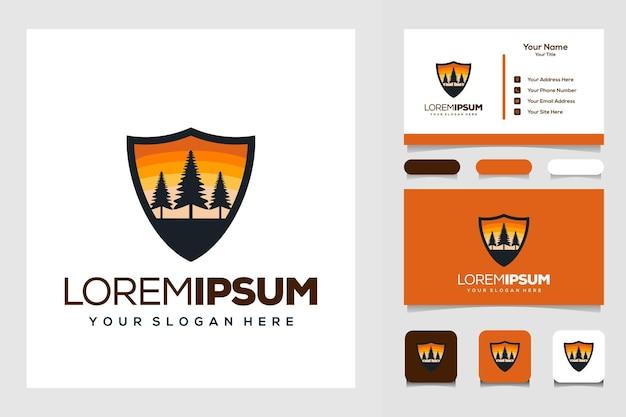 Modern visitekaartje voor boomlogo-ontwerp