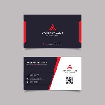 Modern visitekaartje zwart en riet elegant professioneel