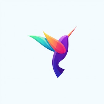 Modern vogel kleurrijk logo