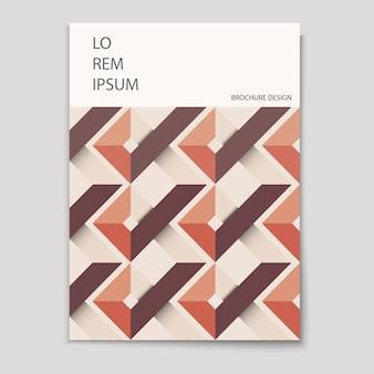 Modern voorbladsjabloon met geometrisch ontwerp