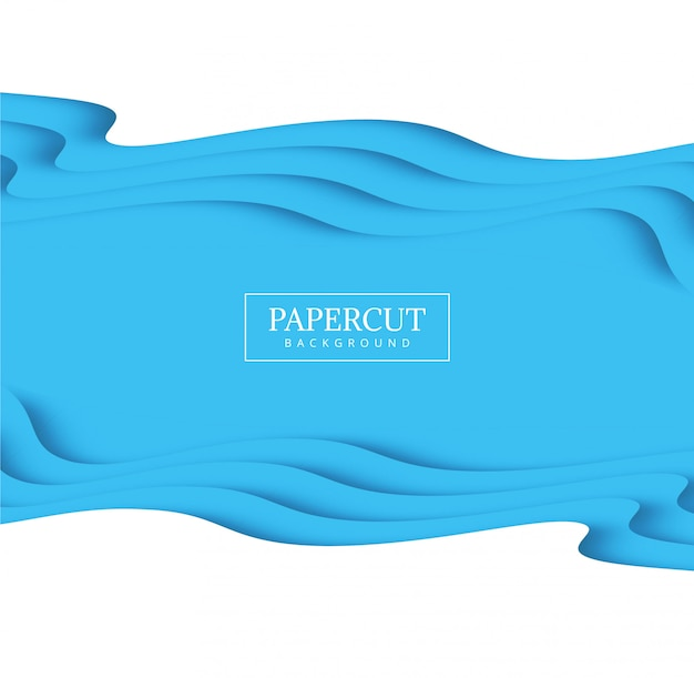 Modern vormgegeven ontwerp met papieren snit