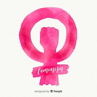 Modern watercolour feministisch symbool