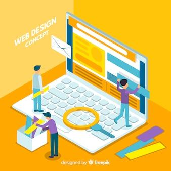 Modern web design concept met isometrische weergave