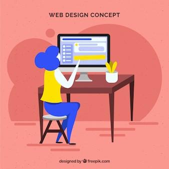 Modern web design concept met platte ontwerp