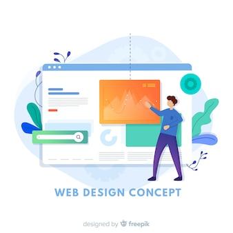 Modern web design concept met vlakke stijl